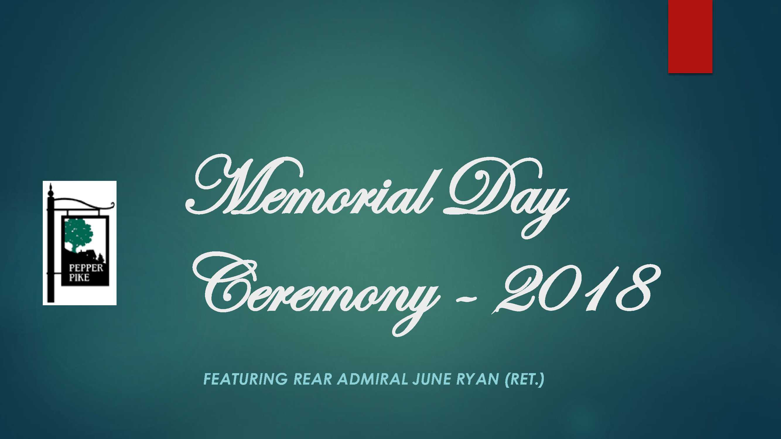 2018 MEMORIAL DAY CEREMONY CITY OF PEPPER PIKE_1
